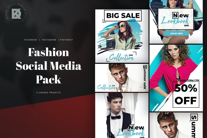 Cover Image For Fashion Social Media Pack