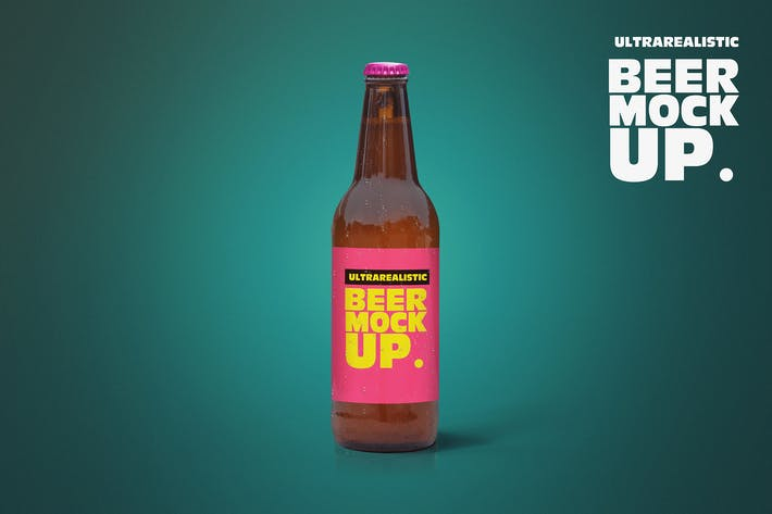 Thumbnail for Standing Clean 50cl Beer Mockup