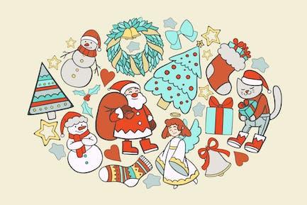 Garabatos de Navidad acogedores