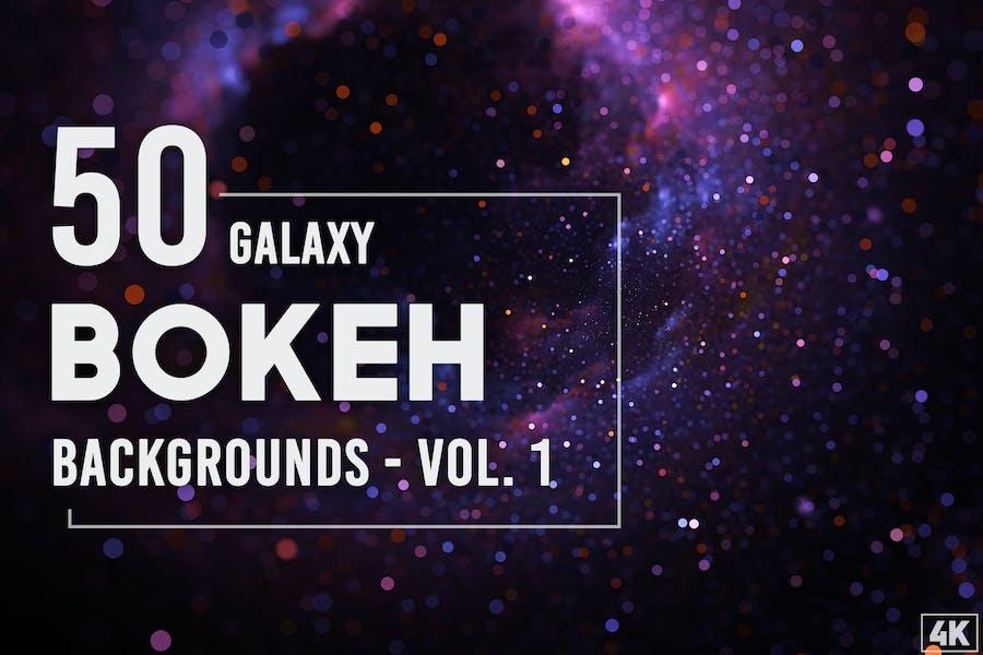 50 Galaxy Bokeh Hintergründe - Band 1