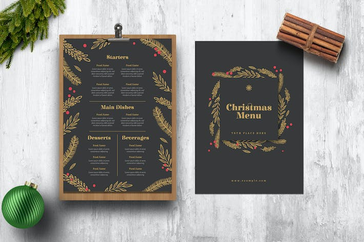 Thumbnail for Holiday Christmas Menus