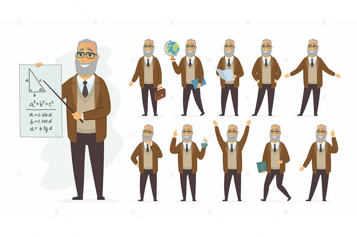 Thumbnail for Teacher - vector cartoon people character set