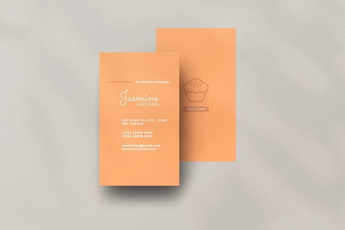 Thumbnail for Vertical Business Card Restaurant
