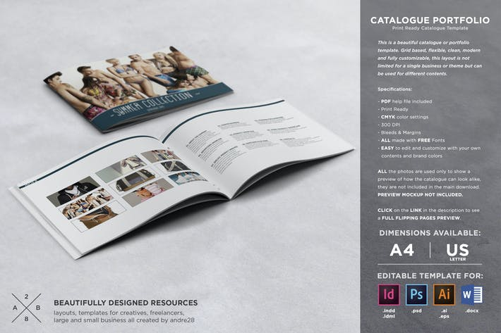 Thumbnail for Catalogue Portfolio Template