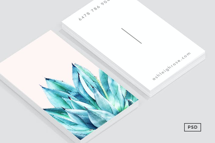 Cover Image For Agave Vibe Business Card Template