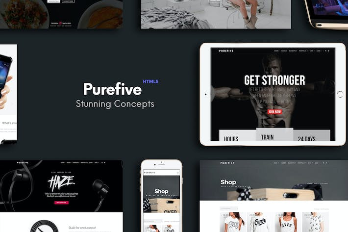 Thumbnail for Purefive - Multipurpose HTML5 Template
