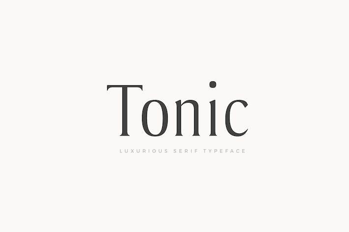 Thumbnail for Tonic - Luxurious Con serifa Tipo de letra