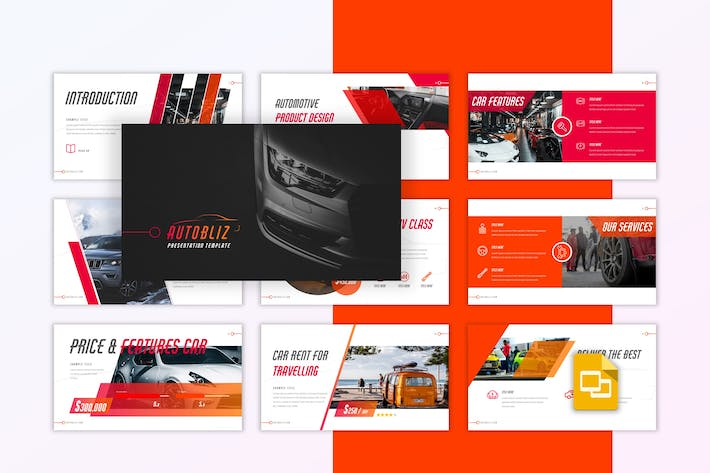Thumbnail for Autobliz - Automotive Google Slides Template