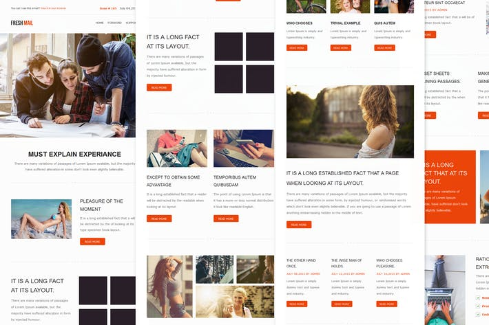 Thumbnail for Fresh Mail - Responsive E-mail Template