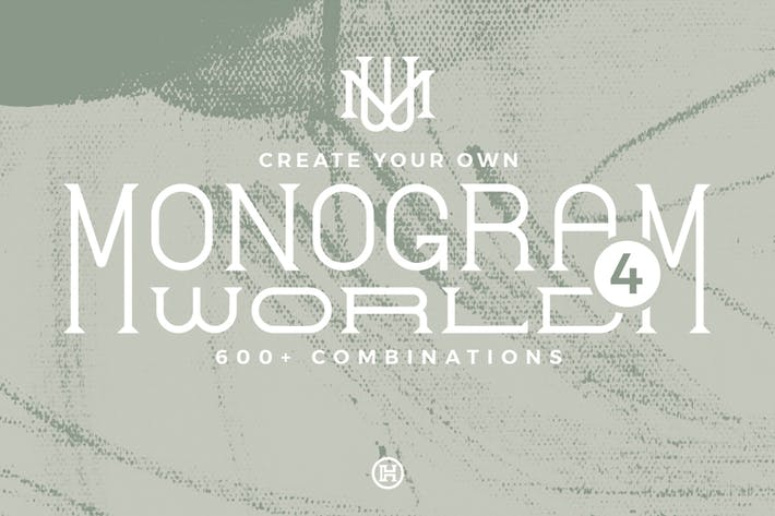 Thumbnail for Monogram World 4 l Monogram Font
