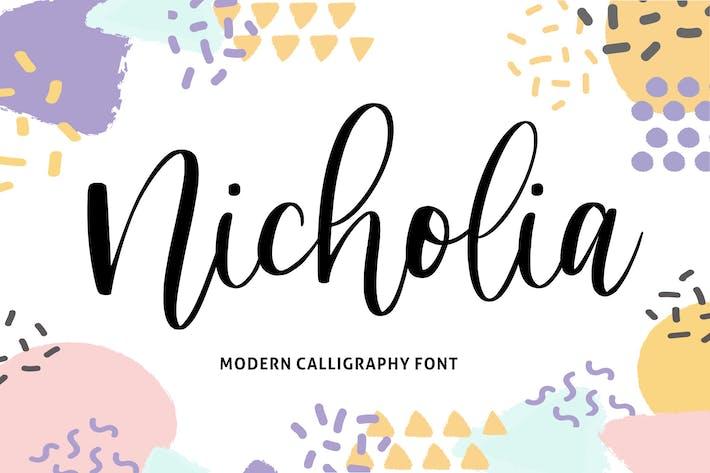 Thumbnail for Nicholia YH - Fuente de caligrafía moderna