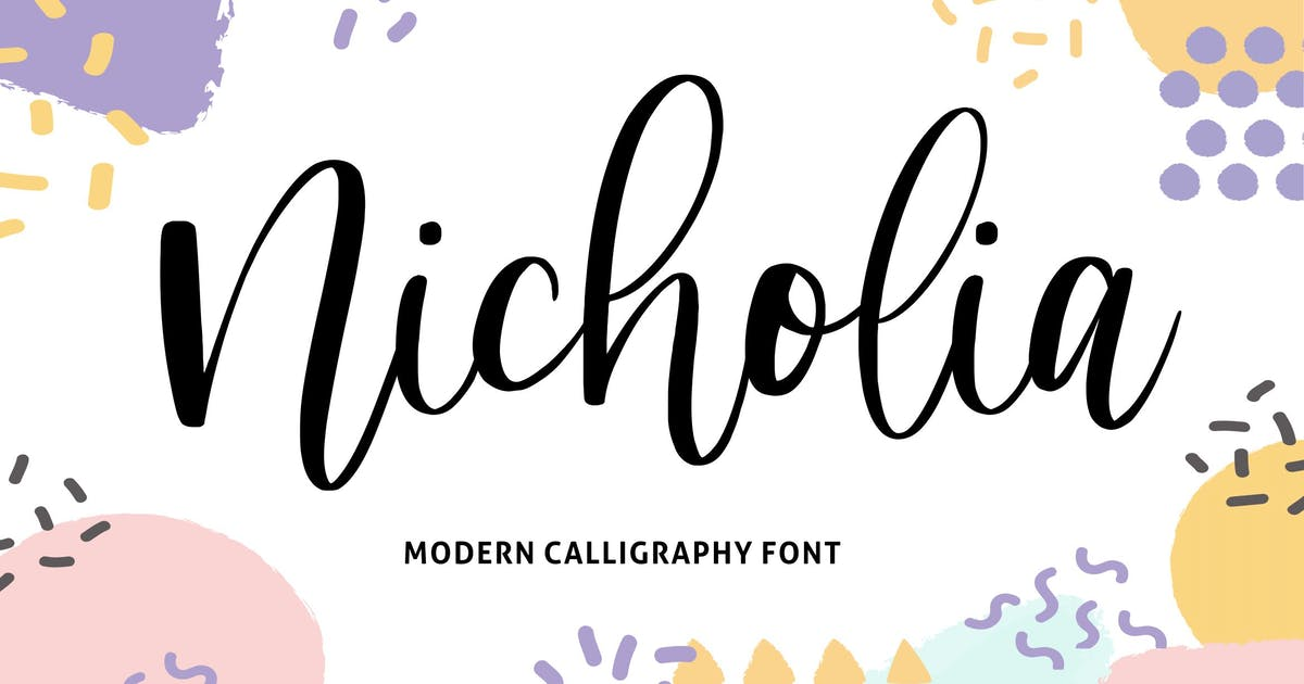 Download Nicholia YH - Modern Calligraphy Font by GranzCreative