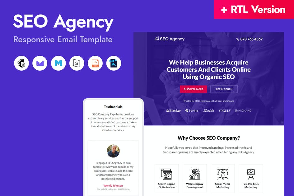 Download SEO Agency Email Template by HyperPix