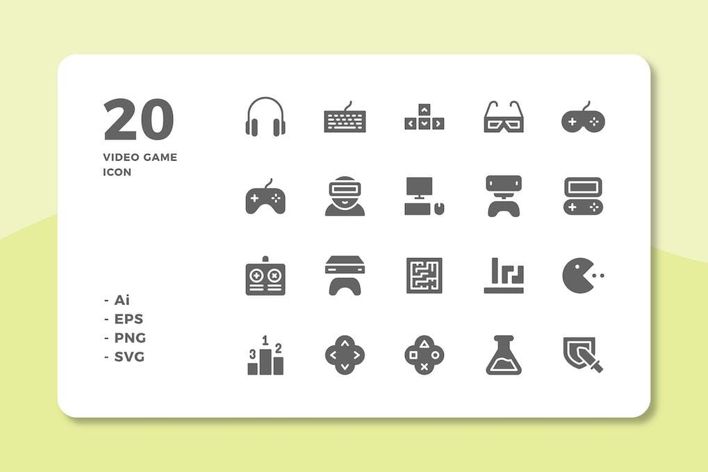Скачать [Envato Elements] 20 Video Game Icons (Solid) (2019), Отзывы Складчик » Архив Складчин