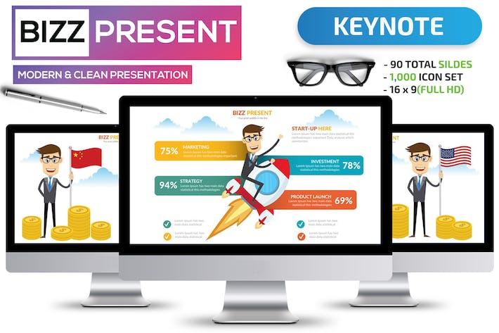 Thumbnail for Bizz & Startup keynote template