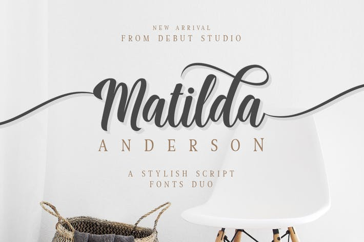 Thumbnail for Matilda Anderson Font Duo