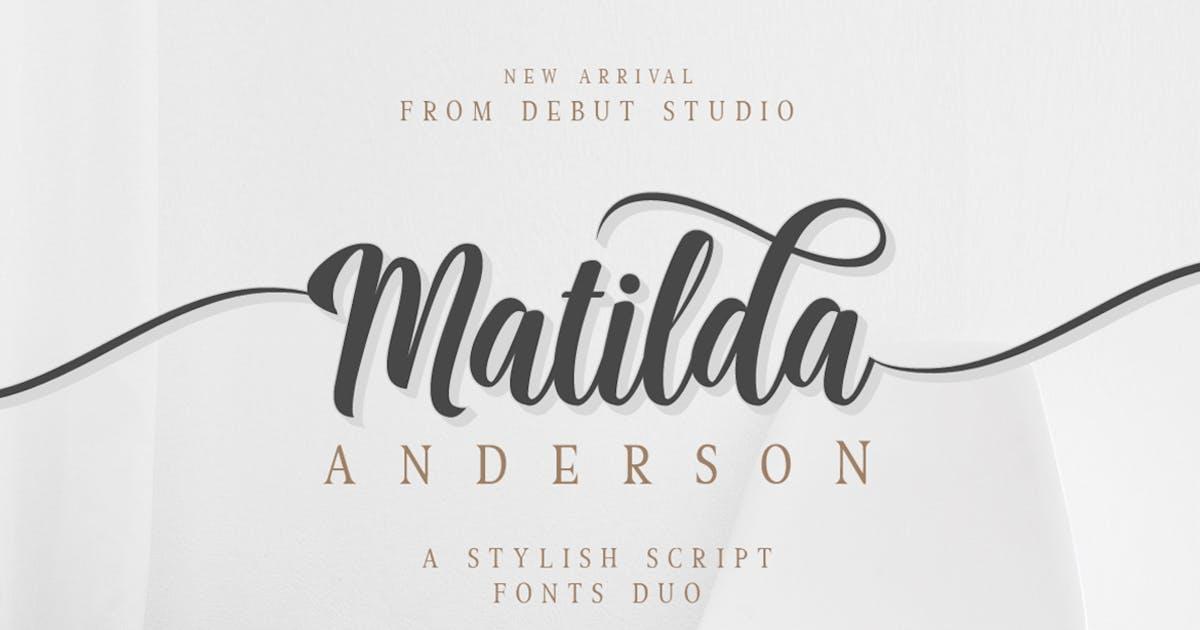 Matilda Anderson Font Duo by DebutStudio