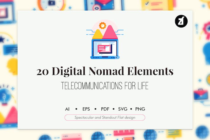 Thumbnail for 20 Digital nomad elements
