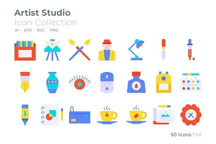 Artist Studio Color Icon