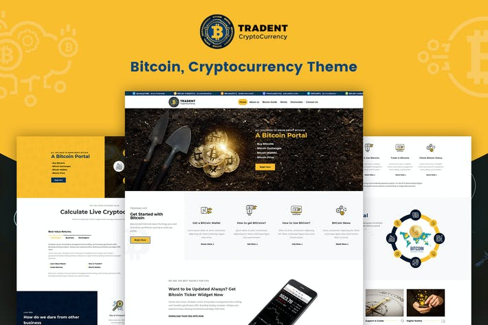 Thumbnail for Tradent Cryptocurrency - Bitcoin, Crypto Theme