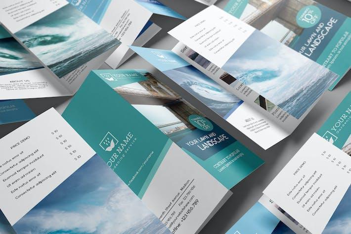 Thumbnail for US Letter   Tri-Fold Brochure Mock-up