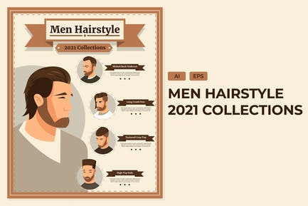 2021 Men Hairstyle - Informational  Infographics