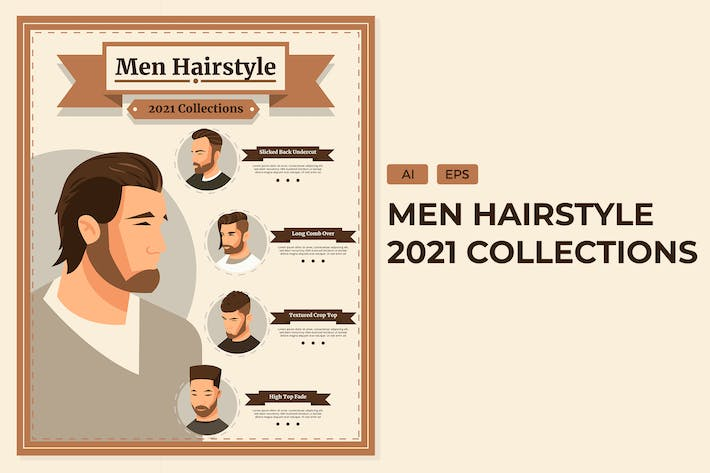 Thumbnail for 2021 Men Hairstyle - Informational  Infographics