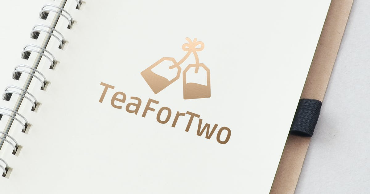 Download Tea For Two Logo Template by ldnstudio
