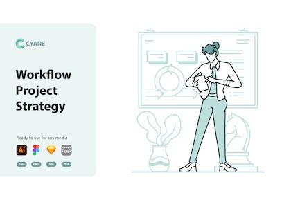 Cyane - Workflow Project Strategy Illustration