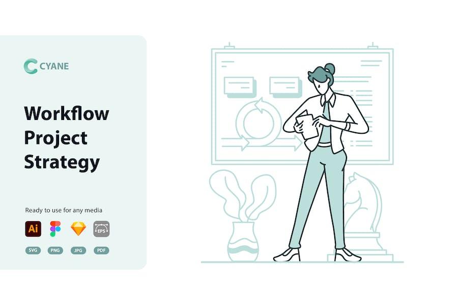 Cyane - Workflow-Projektstrategie-Illustration