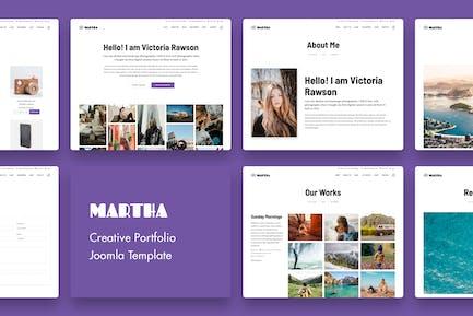 Martha | Réalisations créatif Joomla Modèle