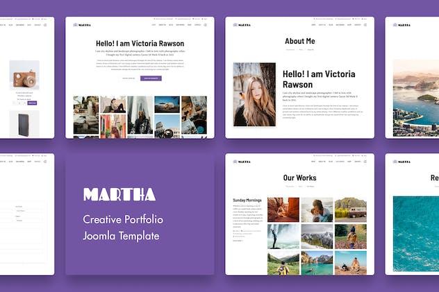 Martha   Creative Portfolio Joomla Template