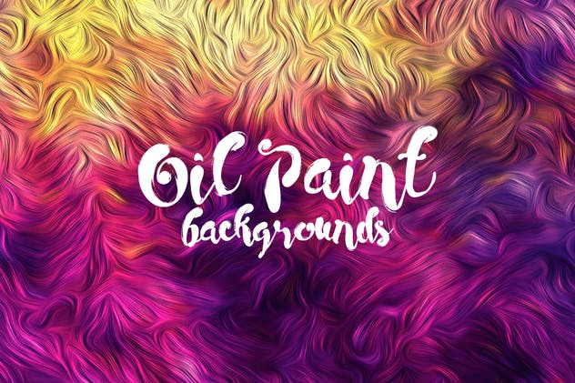 Oil Paint on Canvas Backgrounds