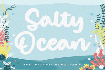 Salty Ocean Bold Brush Font YH