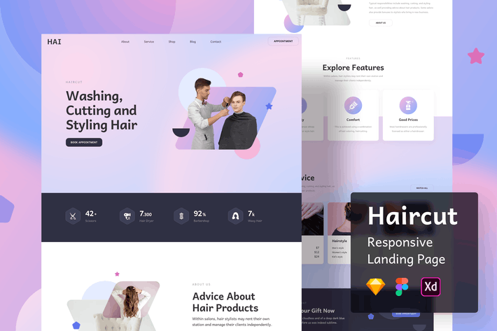 Haircut Responsive Landing Page