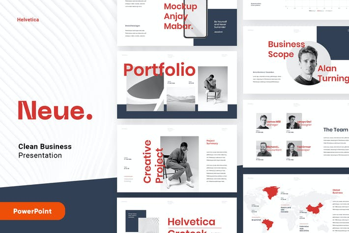 Thumbnail for NEUE - Clean Minimal Business Powerpoint Template