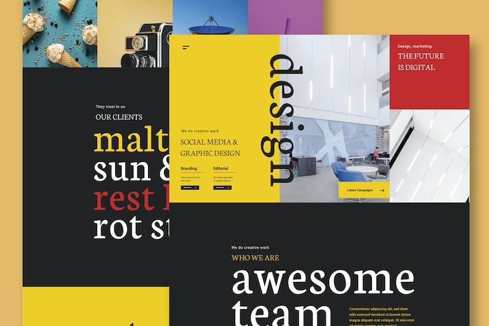 Thumbnail for Design & Marketing Agency - Website