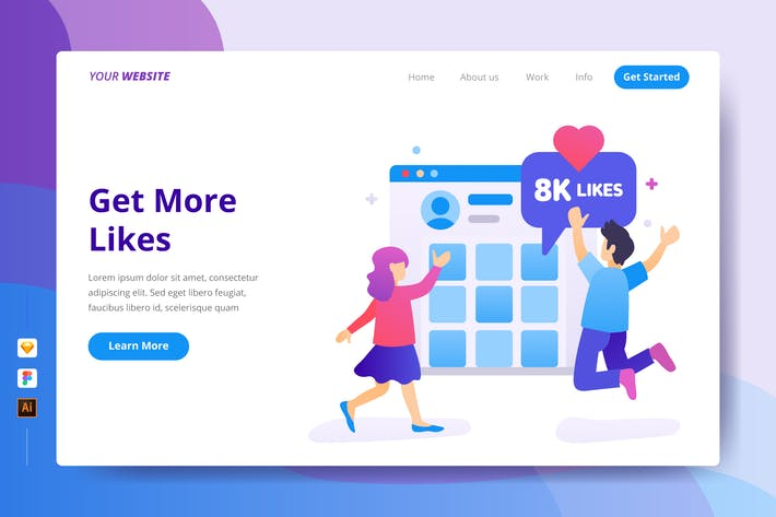 Thumbnail for Get More Likes - Landing Page