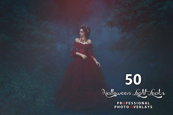 Thumbnail for 50 Halloween Light Leaks Photo Overlays