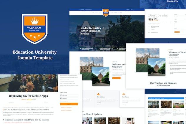 Varaham - Education University Joomla Template