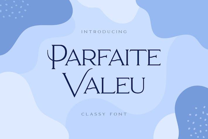 Thumbnail for Parfaite Valeu Serif Font