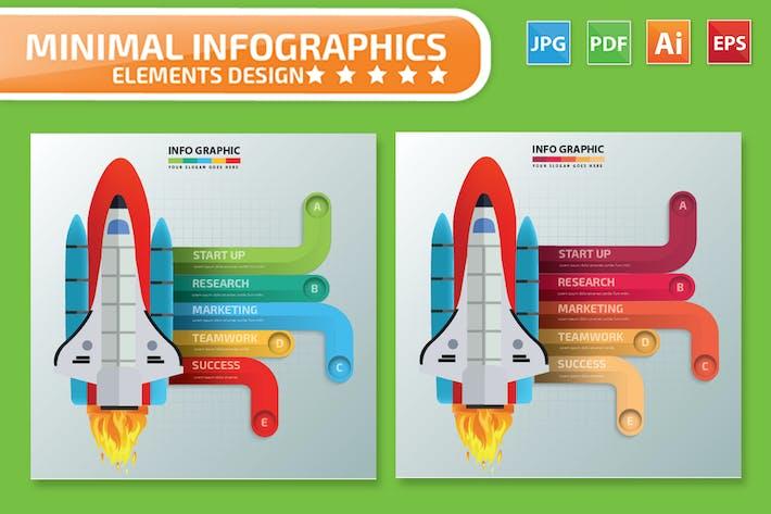 Thumbnail for Start-up Rocket infographic Design