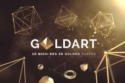 3D Goldene Formen Band 1