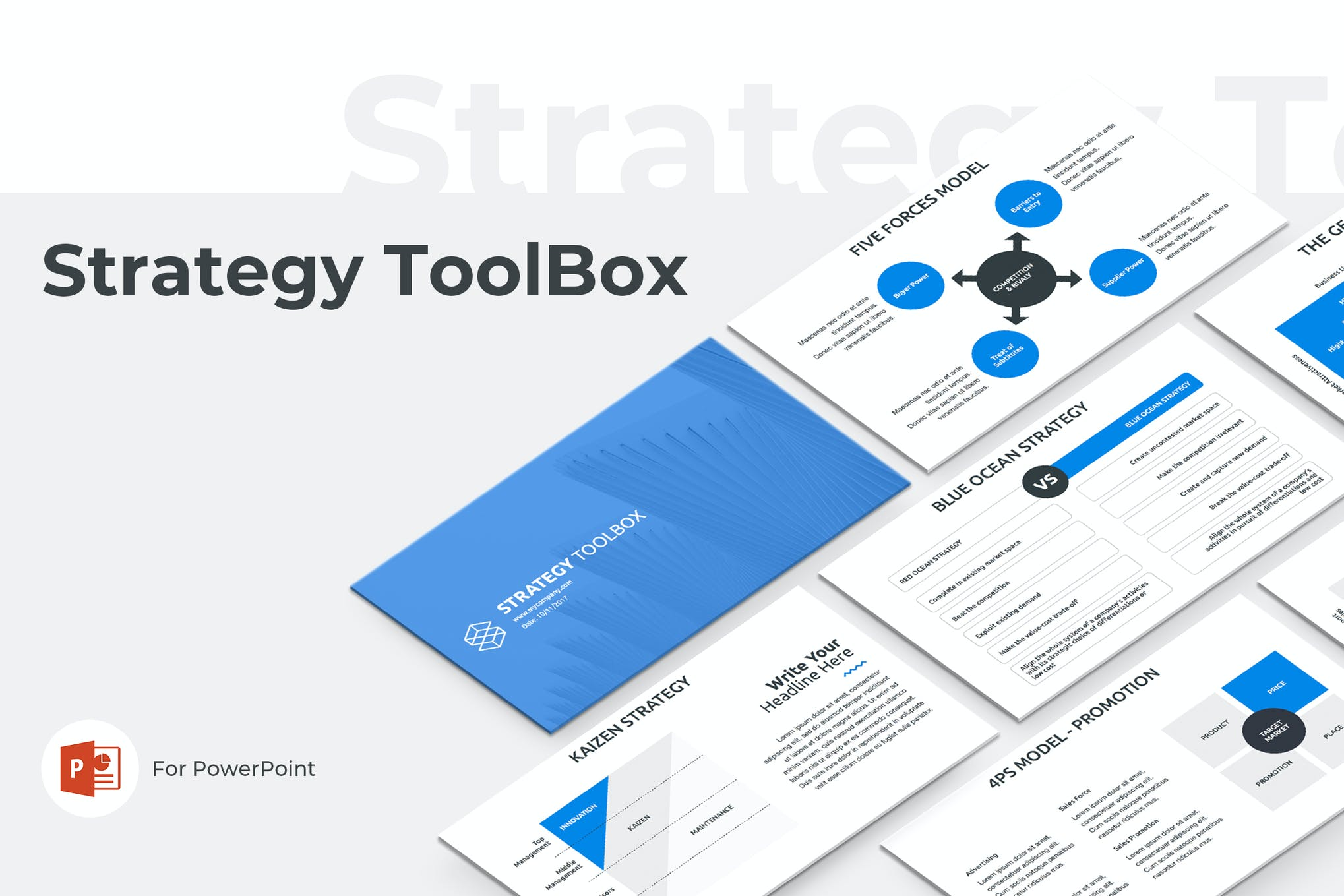 Strategy ToolBox PowerPoint Template by Jetz on Envato Elements