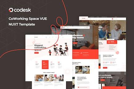 Codesk - Vue Nuxt Coworking Space Template