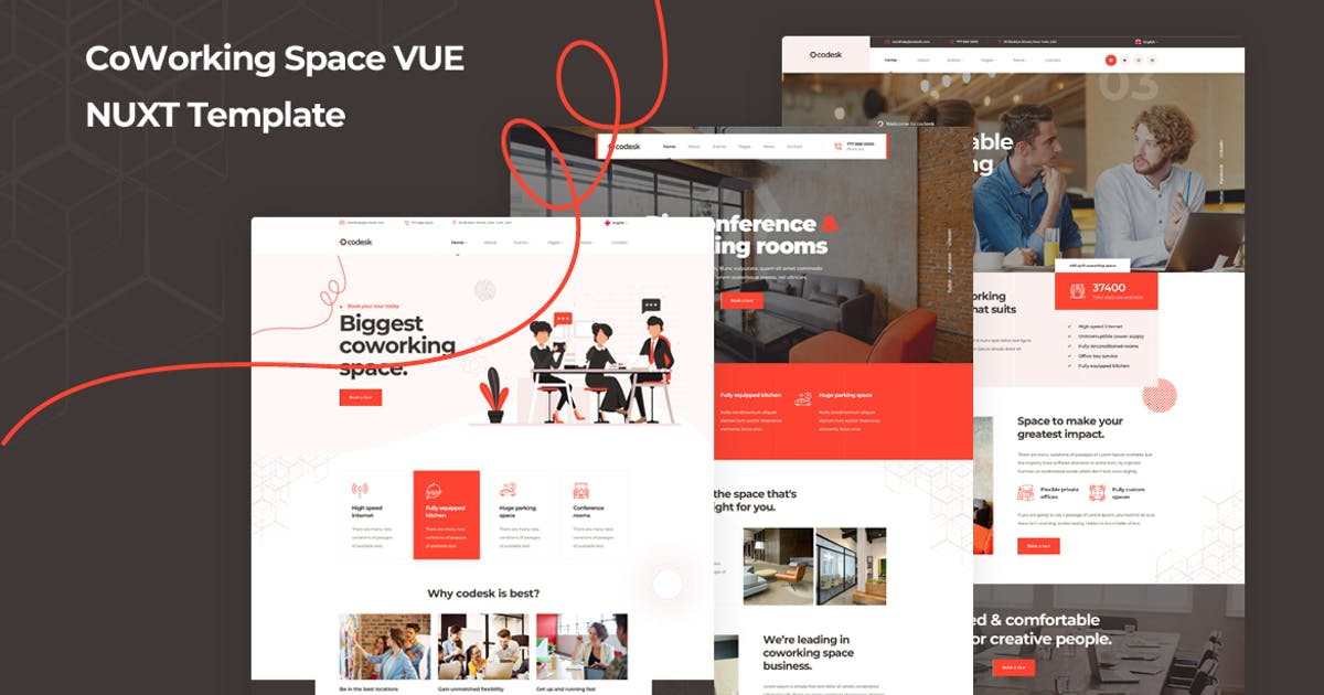 Download Codesk - Vue Nuxt Coworking Space Template by Layerdrops