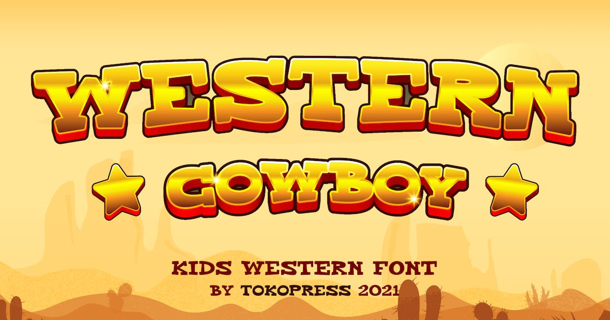 Download Western Cowboy - Gaming font by tokopress