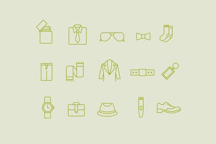 15 Mens Accessories Icons