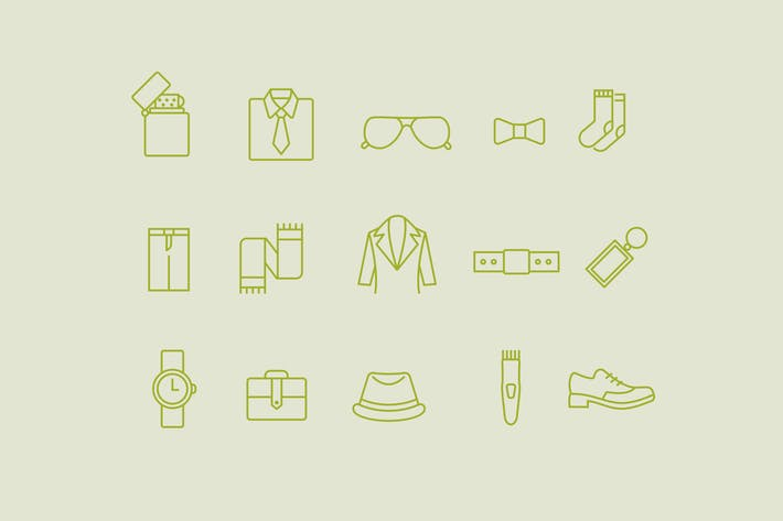 Thumbnail for 15 Mens Accessories Icons