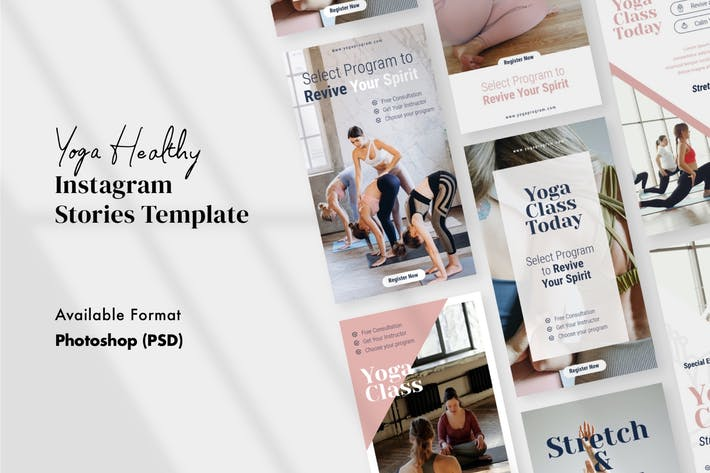 Thumbnail for Healthy Yoga Instagram Stories Template PSD